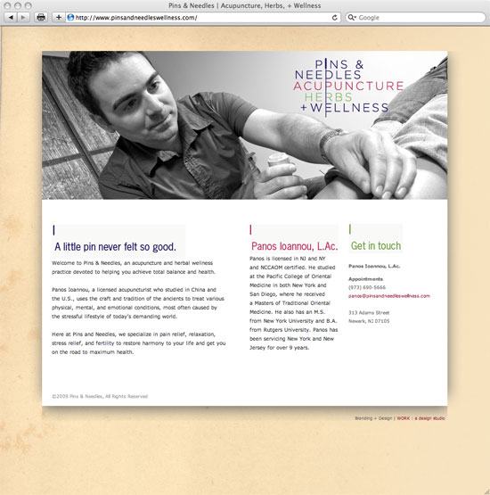Acupuncture website design by Ande & Partners
